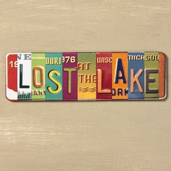 Lost at the Lake Vanity Plate Magnets