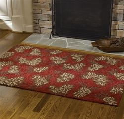 Pinecone Hooked Rug 48