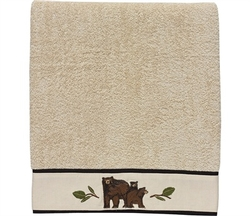 Black Bear Terry Towels