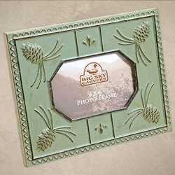 Pinecone Tin Tile Picture Frame - 4