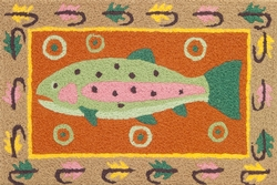Trout Fishing Rug - 21