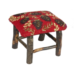 Ruby Pinecone Hickory Stool
