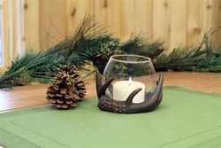 Woodland Resin Anter Globe Tea Light