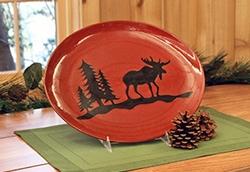 Woodland Stoneware Moose Platter
