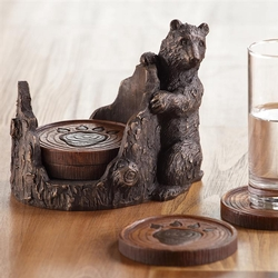 Bear and Paw Coaster Set