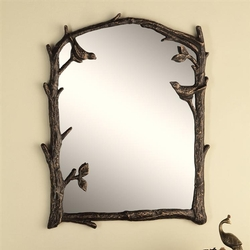Birds and Branch Wall Mirror