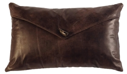 Leather Envelope Pillow with Toggle Button