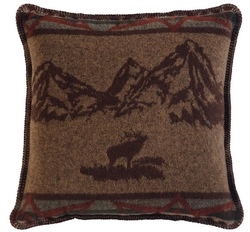 Rocky Mountain Square Pillow