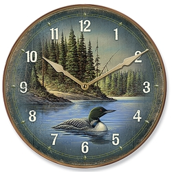 North Round Loon Clock - 11