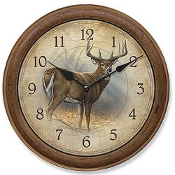 Wildlife Deer - In His Prime - Round Clock - 11
