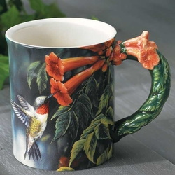 Ruby Throat Hummingbird Coffee Mug