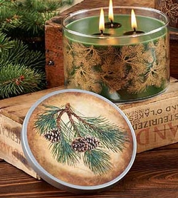 Pine Bough Fir 3 Wick Candle