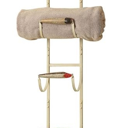 Towel/Magazine Rack with Fishing Lures