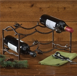 Pinecone Lodge Wine Rack