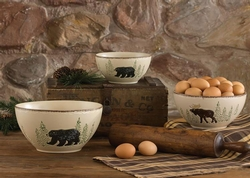 Rustic Retreat Mixing Bowls - Set of 3