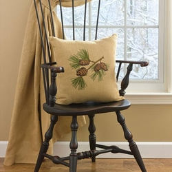Burlap & Pine Pillow