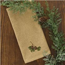 Burlap & Pine Dish Towel