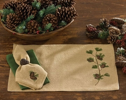Burlap & Pine Placemat - Set of 2