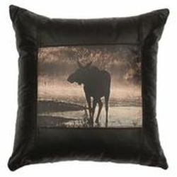 Moose Leather Accent Pillow