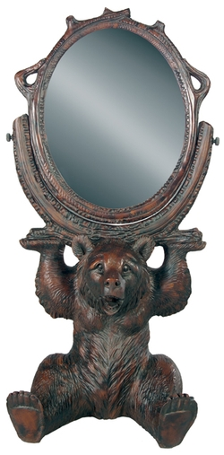 Sitting Bear Swivel Mirror