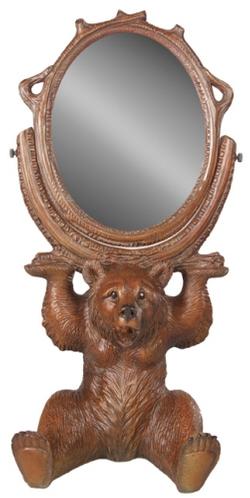Sitting Bear Swivel Mirror