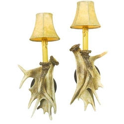 Faux Antler Sconces