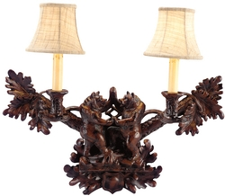 Dancing Bears Wall Sconce