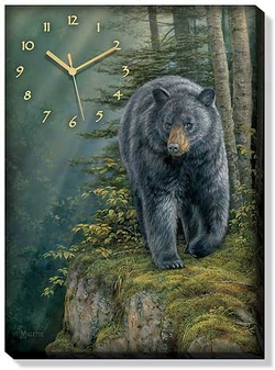 Canvas Clock Rocky Outcrop Bear