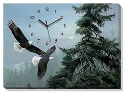 Canvas Clock Above the Mist Eagle