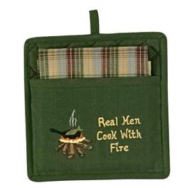 Real Men Pocket Potholder Set