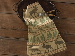 Moose Tracks Jaquard Dish Towel - Set of 2