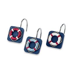 Life Preserver Shower Curtain Hooks