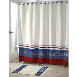 Life Preserver Shower Curtain
