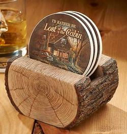 Log Coaster Holder