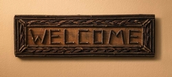 Welcome Twig Braided Sign