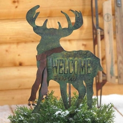 Welcome Yard Stake - Deer