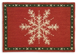 Snow Crystal Flake 2' x 3' Rug