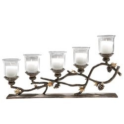 Pinecone 5 Light Candelabra