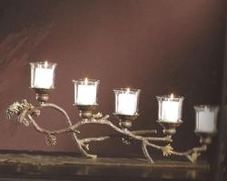 Pinecone 5 Light Candelabra