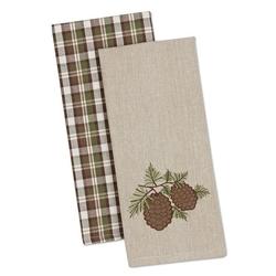 Pine Sprig Dish Towel - Set of 2