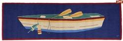 Row Boat Hooked Rug Runner - 8' x 30