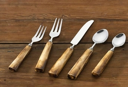 Bone Handle Flatware - 5 Piece Set