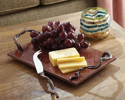 Vine Cheese Board and Knife