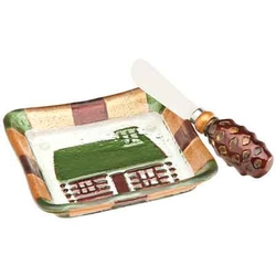Cabin Appetizer Plate with Spreader