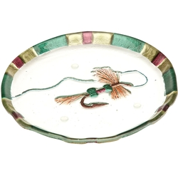 Clear Streams Glass Snack Plate, Royal Wulff Fly