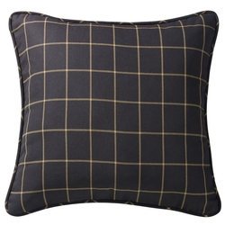 Black Windowpane Euro Sham