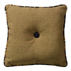 Burlap Tufted Pillow