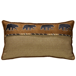 Black Bears On Suede Pillow