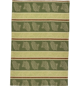 Pinecone and Leaves Jacquard Dish Towel - Set of 2