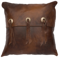 Harness Leather Accent Pillow